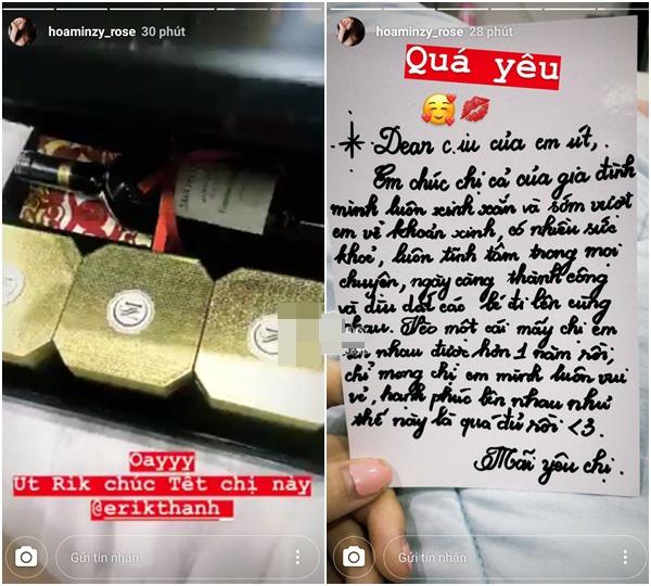 Cuối năm vẫn cố chơi lầy cú chót, Erik viết thư tay nhắn nhủ Hoà Minzy: 'Sớm vượt em về khoản xinh' - Ảnh 1