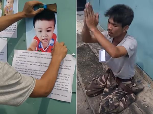 Xúc động clip cha quỳ lạy giữa phố mong tìm lại con trai 3 tuổi mất tích suốt 2 năm qua - Ảnh 1