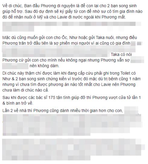 Bạn thân tiết lộ Mai Phương có ý định viết giấy từ con gái, di chúc phải ngồi viết trong nhà vệ sinh - Ảnh 2