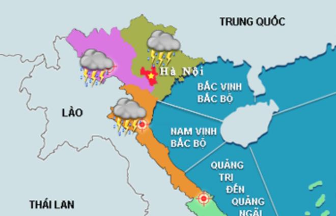 Bắc và Trung Bộ xuất hiện mưa dông trên diện rộng, cảnh báo nguy cơ lốc, sét, lũ quét và sạt lở đất - Ảnh 1