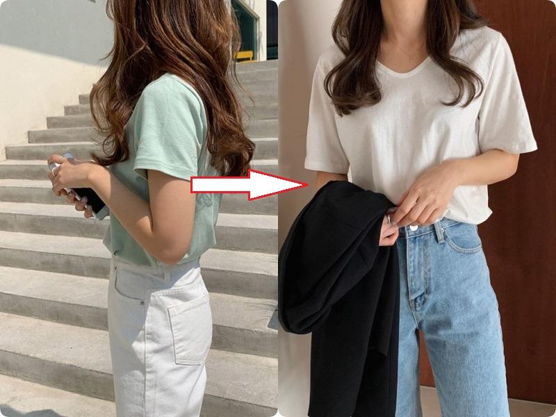 Các nàng hãy chọn áo phông theo 4 tips này, đảm bảo luôn đẹp và quan trọng là nhìn người gầy đi vài ký - Ảnh 6