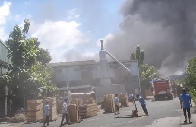Công ty gỗ ở Bình Dương cháy dữ dội, nhiều người đến sát hiện trường... live stream dưới dòng điện cao thế - Ảnh 2