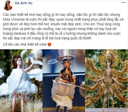 Siêu mẫu Hà Anh chê top 3 trang phục dân tộc cho Hoàng Thùy thi Miss Universe 2019 - Ảnh 2