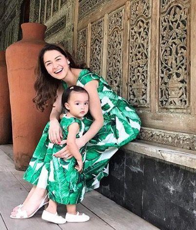 Con gái 'mỹ nhân đẹp nhất Philippines' được khen khi mặc đồ đôi với mẹ - Ảnh 4