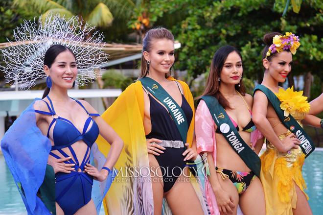 Hoàng Hạnh đạt giải vàng đầu tiên ở Hoa hậu Trái Đất - Ảnh 1