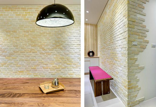 Căn hộ nhỏ thu hút mọi ánh nhìn nhờ trang trí bằng gạch ốp tường 3D - Ảnh 4