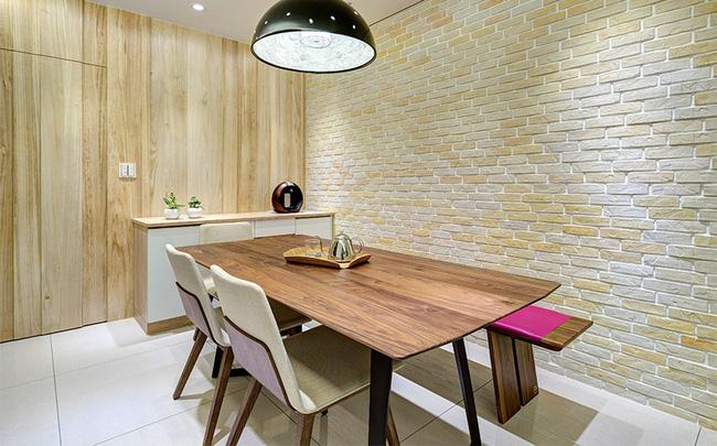 Căn hộ nhỏ thu hút mọi ánh nhìn nhờ trang trí bằng gạch ốp tường 3D - Ảnh 6