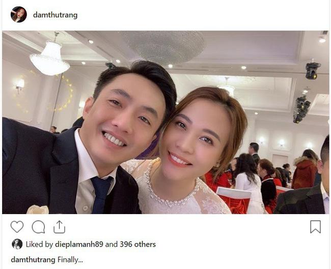 Ngày Cường Đô La cưới Đàm Thu Trang, Hạ Vi làm điều bất thường trên mạng xã hội - Ảnh 1