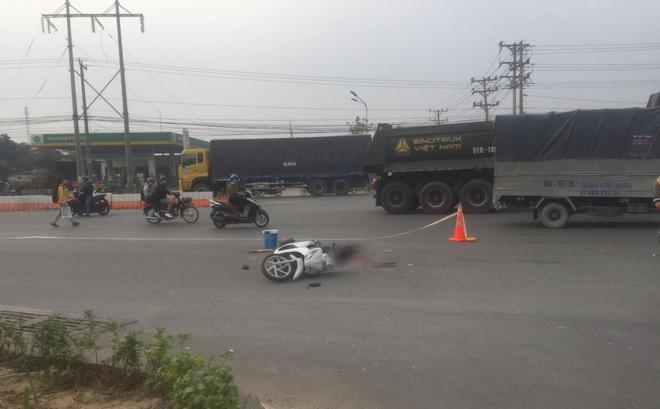 Bình Dương: Dân truy đuổi xe container cán chết người phụ nữ rồi bỏ chạy - Ảnh 1