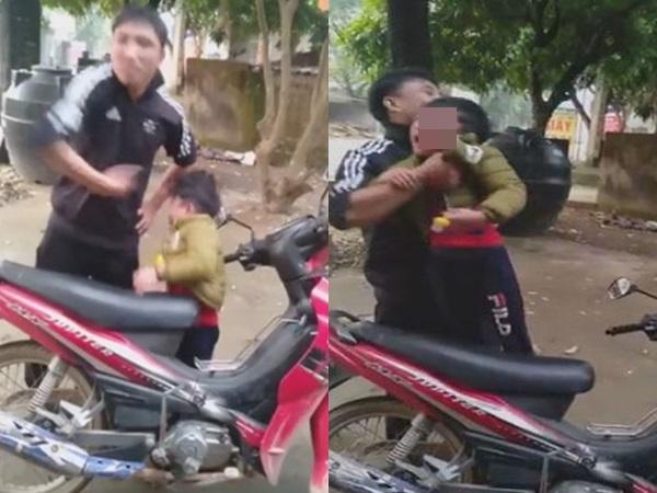 Cãi nhau với vợ cũ, người đàn ông thẳng tay tát vào mặt con trai mặc kệ đứa trẻ khóc thét - Ảnh 1