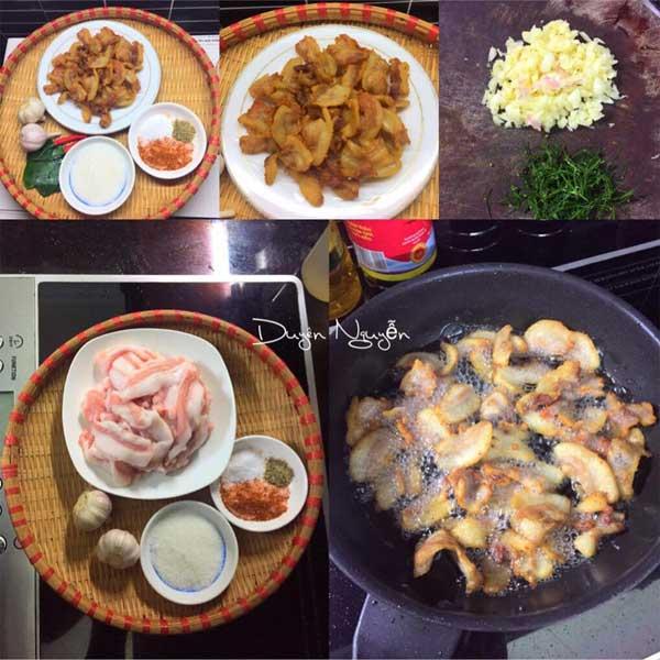 Cách làm món tóp mỡ rang muối ớt đơn giản mà đưa cơm - Ảnh 2