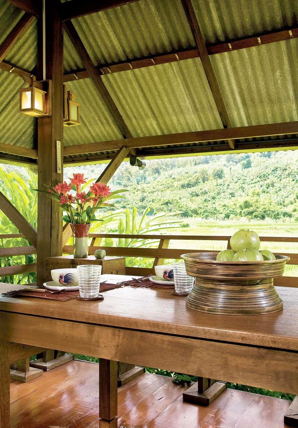 Nhà cấp 4 với thiết kế đẹp lãng mạn giữa cánh đồng lúa xanh tươi ở ngoại ô - Ảnh 4