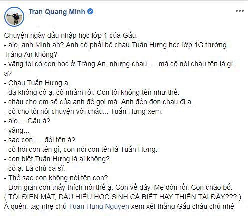 BTV Quang Minh hoang mang nhờ ca sĩ Tuấn Hưng đánh giá về con trai vì lý do này! - Ảnh 4