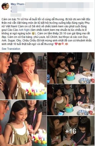 Phạm Anh Khoa hạnh phúc đón sinh nhật con gái cùng 'hội bạn thân' - Ảnh 1