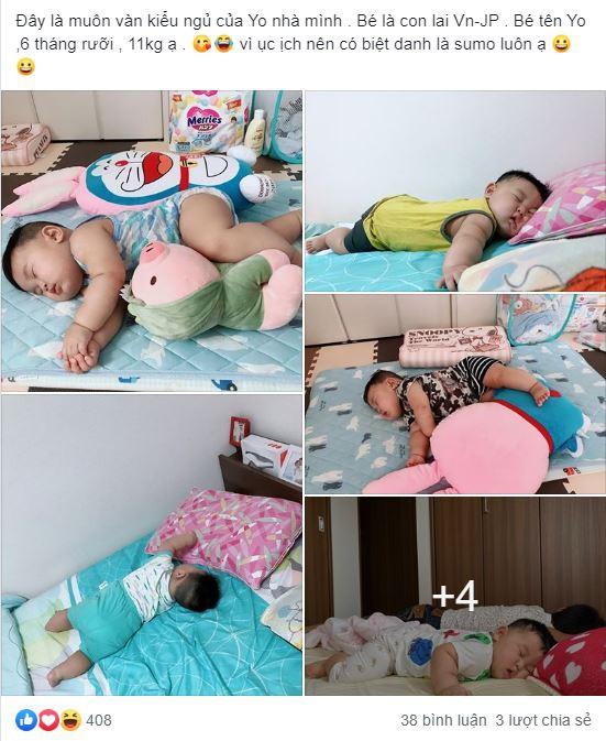 Muôn vàn tư thế ngủ của em bé 'sumo' khiến cư dân mạng không ngừng 'thả tim' - Ảnh 1