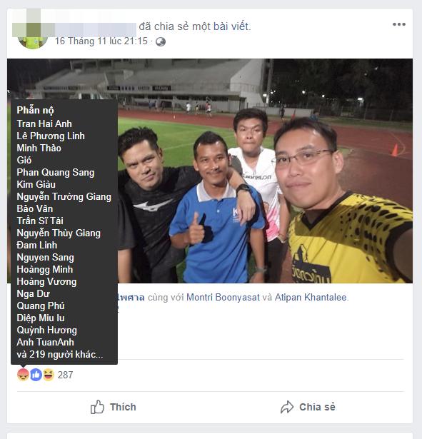 Đổi tên, thay avatar facebook màu đen, trọng tài biên người Thái phát hoảng vì CĐV Việt Nam? - Ảnh 2