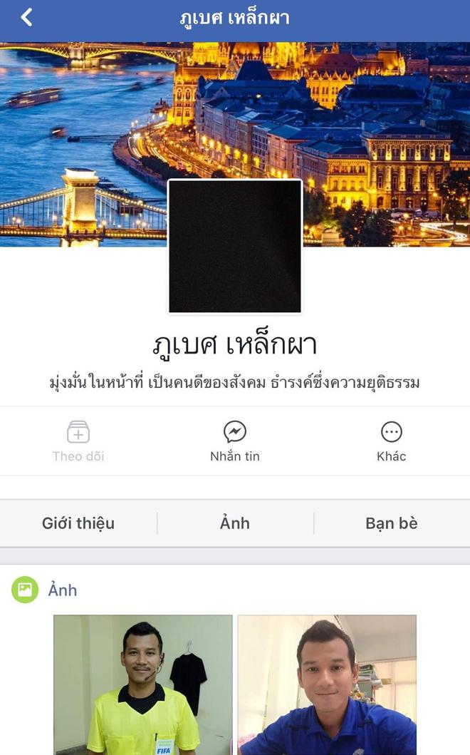 Đổi tên, thay avatar facebook màu đen, trọng tài biên người Thái phát hoảng vì CĐV Việt Nam? - Ảnh 8