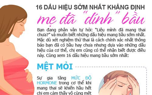 16 dấu hiệu sớm nhất khẳng định mẹ đã 'dính' bầu - Ảnh 1