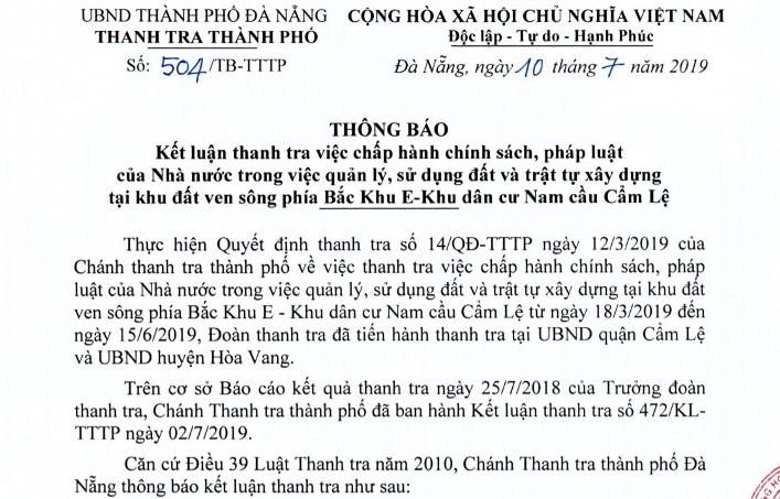 Lơ là trong quản lý đất đai, Đà Nẵng đề nghị xử lý hàng loạt cán bộ - Ảnh 1