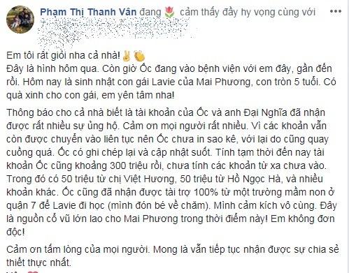 Ốc Thanh Vân tiết lộ số tiền 'khủng' Hồ Ngọc Hà giúp Mai Phương trị bệnh ung thư phổi - Ảnh 2