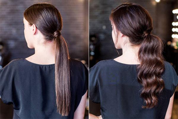 Cách buộc tóc đuôi ngựa thấp kiểu Hàn Quốc đơn giản mà đẹp - Ảnh 2