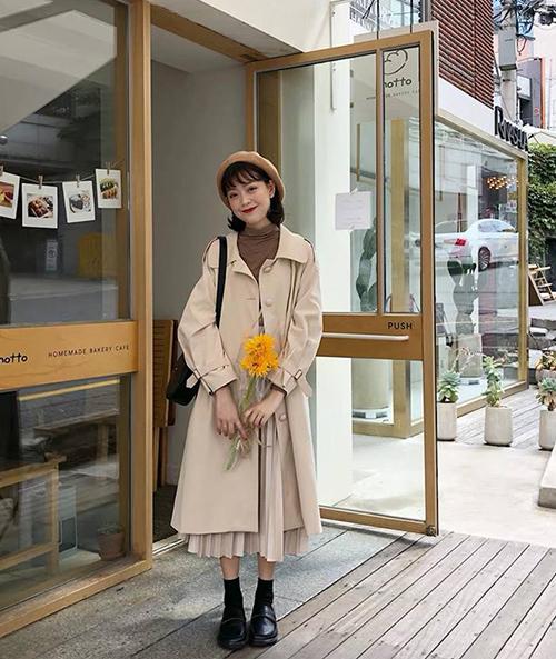 3 công thức mix chân váy dài - món đồ 'đỉnh' mùa đông của gái Hàn - Ảnh 1
