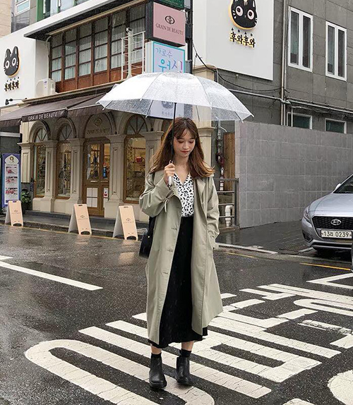 3 công thức mix chân váy dài - món đồ 'đỉnh' mùa đông của gái Hàn - Ảnh 2