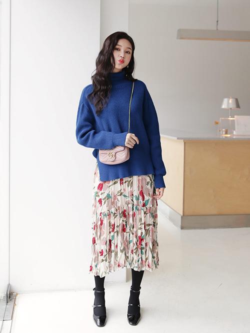 3 công thức mix chân váy dài - món đồ 'đỉnh' mùa đông của gái Hàn - Ảnh 7