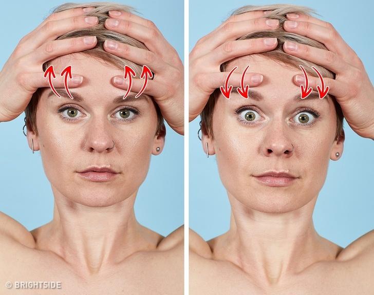 7 bài tập cho khuôn mặt làm nếp nhăn biến mất, làn da căng mịn giúp phụ nữ trẻ ra cả chục tuổi - Ảnh 1