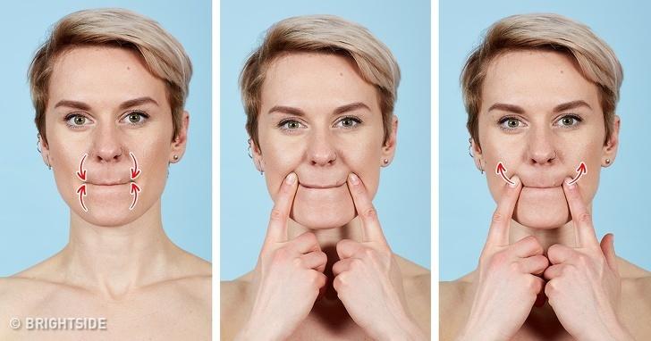 7 bài tập cho khuôn mặt làm nếp nhăn biến mất, làn da căng mịn giúp phụ nữ trẻ ra cả chục tuổi - Ảnh 4