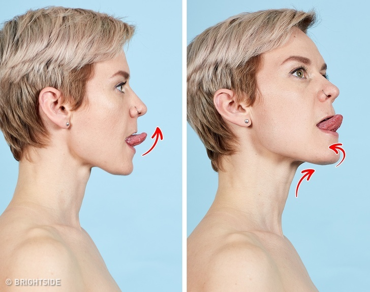7 bài tập cho khuôn mặt làm nếp nhăn biến mất, làn da căng mịn giúp phụ nữ trẻ ra cả chục tuổi - Ảnh 5
