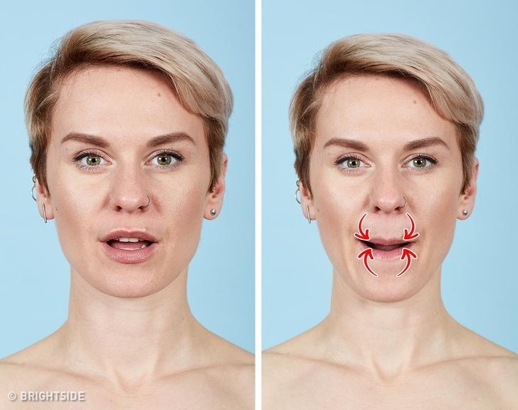 7 bài tập cho khuôn mặt làm nếp nhăn biến mất, làn da căng mịn giúp phụ nữ trẻ ra cả chục tuổi - Ảnh 6