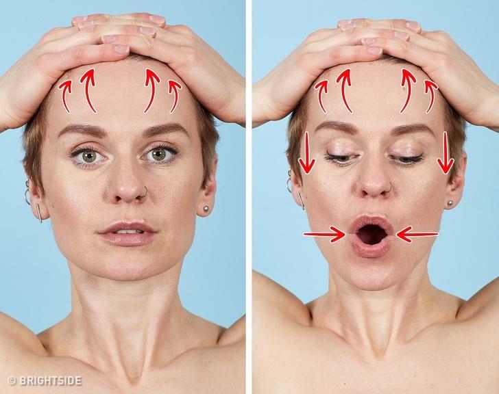 7 bài tập cho khuôn mặt làm nếp nhăn biến mất, làn da căng mịn giúp phụ nữ trẻ ra cả chục tuổi - Ảnh 7
