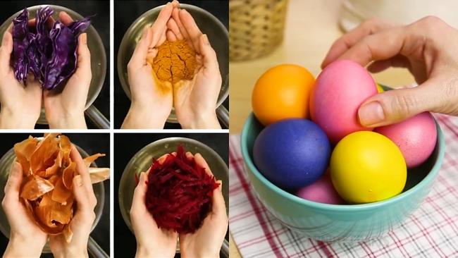 Cách nhuộm màu trứng đẹp mắt đơn giản nhất - Ảnh 1