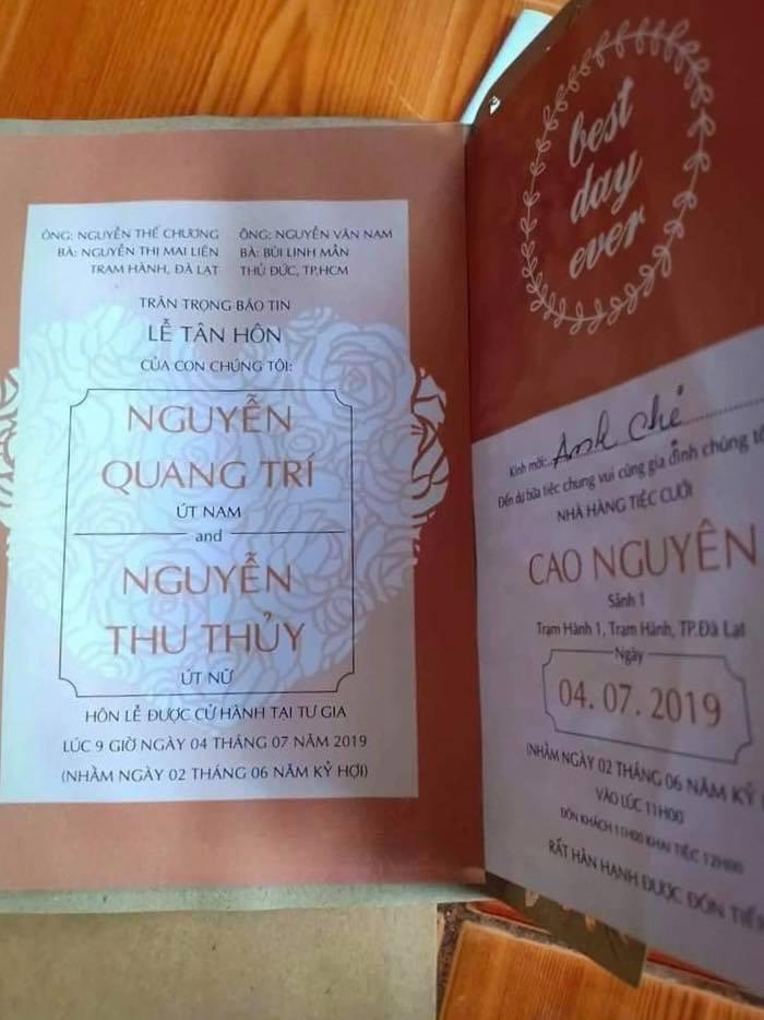 Xôn xao thông tin Thu Thủy kết hôn vào tháng 7, lộ hình ảnh thiệp cưới với bạn trai kém 10 tuổi - Ảnh 3
