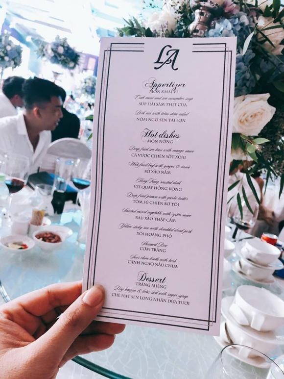 Lấy chồng thiếu gia, thực đơn trong đám cưới Á hậu Tú Anh có gì? - Ảnh 1