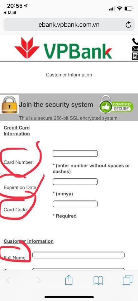 VPBank lên tiếng về email giả danh được gửi cho khách hàng để đánh cắp thông tin thẻ tín dụng - Ảnh 2