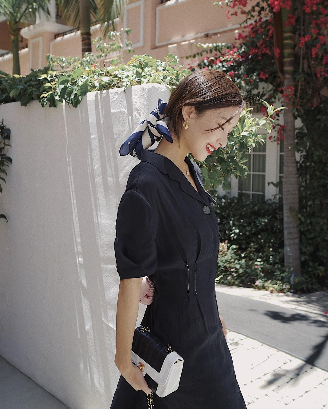 Đồ đen có thể giúp bạn trông gầy đi vài kilogram, nhưng mặc sao cho đẹp thì hãy tham khảo Hà Tăng - Ảnh 8
