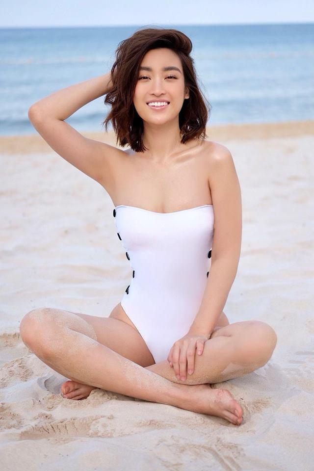 Hoa hậu Đỗ Mỹ Linh diện áo tắm, khoe thân hình gợi cảm chẳng kém cạnh mỹ nhân nào - Ảnh 4