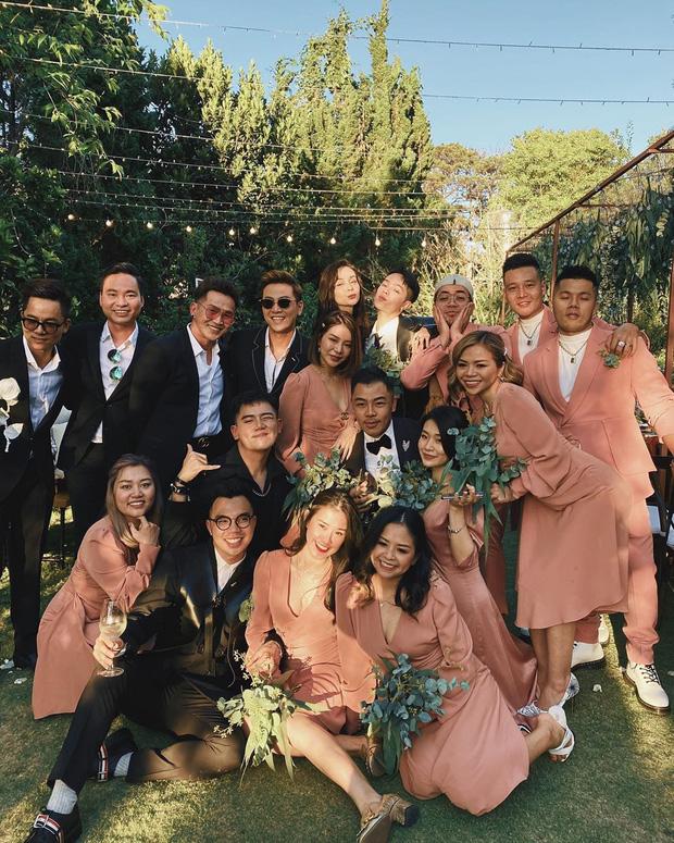 Dậy sóng hình nét căng hiếm hoi trong hôn lễ kín của Tóc Tiên: Nhan sắc cô dâu nổi bật giữa dàn phù dâu toàn hotgirl - Ảnh 5