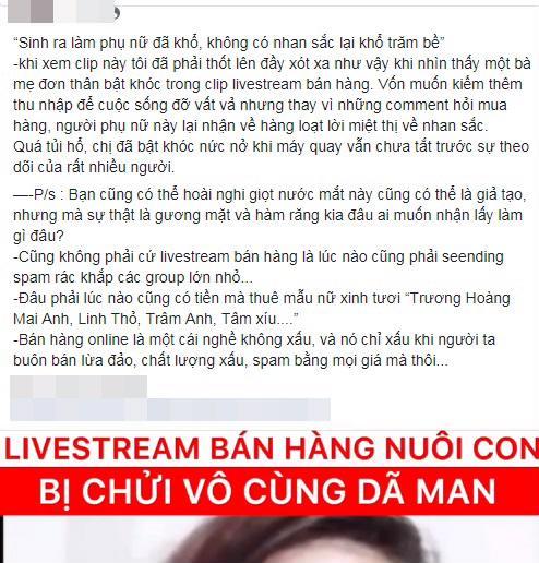 Bạn bè tiết lộ về con người thật của bà mẹ đơn thân livestream bán hàng 'xấu xúc phạm người nhìn' - Ảnh 4