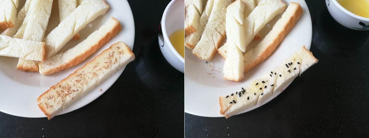 Bánh mì chiên bơ vừng giòn rụm thơm ngon - Ảnh 3