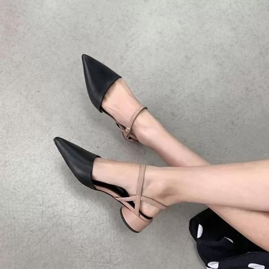 Các kiểu giày đế thấp cho chị em văn phòng - Ảnh 10