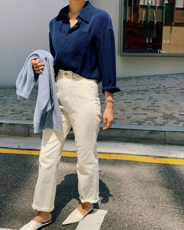 Để tránh bị chê 'không ra thể thống gì' khi diện quần jeans đi làm, nàng công sở chỉ cần nhớ đúng 4 tips - Ảnh 6
