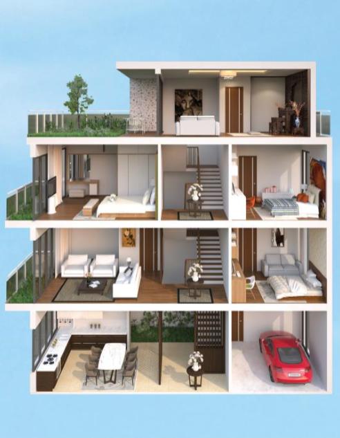 Nhà liền kề, biệt thự The Eden Rose: Quy hoạch xây 3 tầng nhưng bán 4 tầng - Ảnh 2