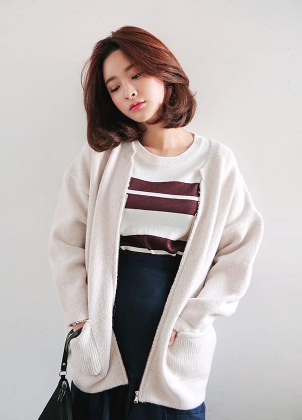 10 kiểu tóc ngắn Hàn Quốc xinh xắn cho nàng chơi Tết - Ảnh 1