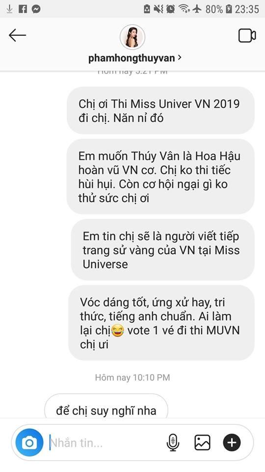 Á hậu Thúy Vân được ủng hộ thi Hoa hậu Hoàn vũ Việt Nam 2019 để vượt kỷ lục H'Hen Niê - Ảnh 2