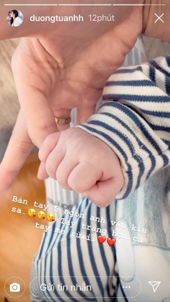 Chăm con mọn vất vả là thế nhưng Tú Anh vẫn hé lộ niềm vui nhỏ nhoi này của bà mẹ bỉm sữa - Ảnh 2
