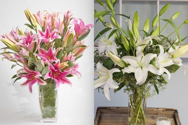 Khi cắm hoa ly nên lưu ý một số mẹo giúp cho hoa tươi và bền đẹp hơn