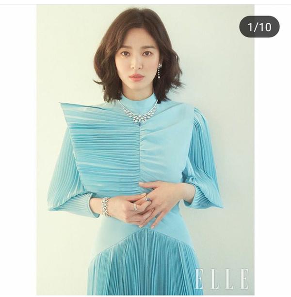 Giữa tin đồn ly hôn, Song Hye Kyo xuất hiện đầy quyến rũ trên tạp chí ELLE - Ảnh 1
